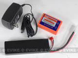 Small Type 11.1V 1500mAh High Performance Airsoft Li-Poly Battery Pack with BMS and Charger set