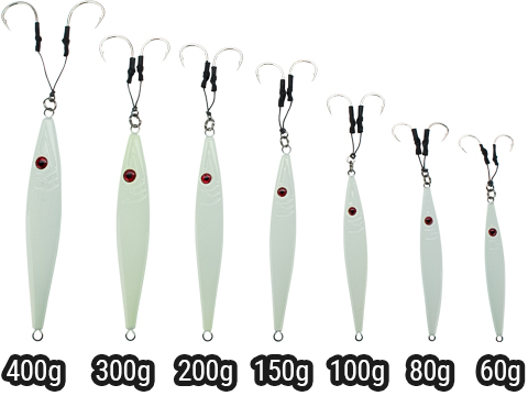 Battle Angler Phantom-Knife Glow In The Dark Deep Sea Fishing Jig (Model: 60g 3/0)