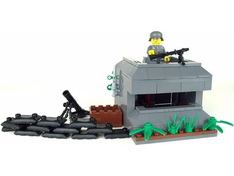 Battle Brick Customs Scenic Sets (Model: WWII German Bunker)