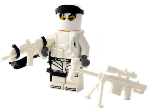 Battle Brick Customs Military Mini-Figure (Model: Winter Commando)