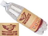 Angel Custom 0.23g Professional Grade 6mm Airsoft BBs - 7000 Rounds / White</b>