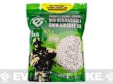 Evike Match Grade Biodegradable 6mm Airsoft BBs (Weight: .23g / 4300 Rounds / White)
