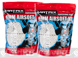 Matrix Match Grade 6mm Airsoft BBs (Weight: .25g / 10000 Rounds / White)