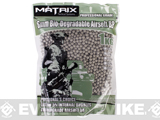 Matrix Match Grade Biodegradable 6mm Airsoft BBs (Weight: .20g / 5000 Rounds / Natural Sand Color)