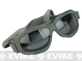 Bobster Bravo 2 Interchangeable Ballistics Goggles w/ MOLLE pouch and Extra Lenses - Green