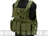 Matrix Assault Plate Carrier Vest w/ Cummerbund & Pouches (Color: OD Green)