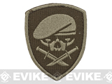 Embroidered Tactical Hook & Loop Patch - Menace of Horror - Tan