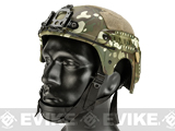 Matrix Professional Grade Airsoft IBH Helmet w/ NVG Mount Base & Rails - Camo