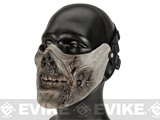 Avengers Zombie Iron Face Lower Half Mask - Rotting Flesh
