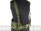 Matrix TMC MOLLE Gen II Belt with Suspenders (Color: OD Green)