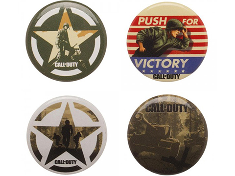 Call of Duty WWII Collectors Buttons 4 Pack