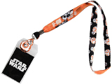 Star Wars BB8 Lanyard w/ Medallion & ID / Badge Holder - Orange / Gray