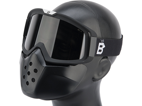 Birdz Eyewear Pelican Full Face Mask (Color: Black / Smoke)