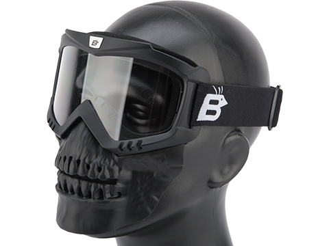 Birdz Eyewear SkullBird Full Face Mask (Color: Black / Clear)