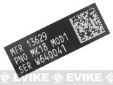 Blackjacks Weapon Code Label - MK18 MOD1