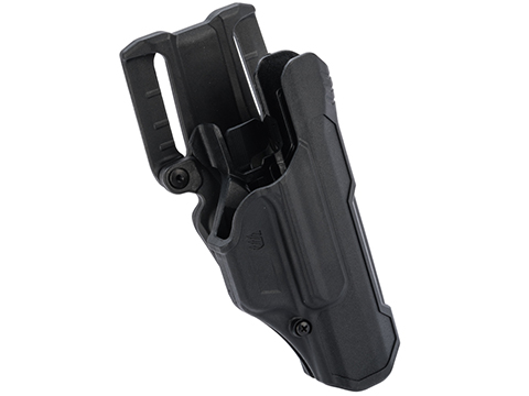 Blackhawk T-Series Level-2 Non-Light Bearing Duty Holster (Model: GLOCK 17, 19, 22 / Matte Black / Right Hand)