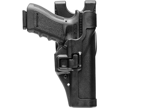 Blackhawk! Serpa L3 Duty Holster (Model: GLOCK 17, 19, 22 / Matte Black / Right Hand)