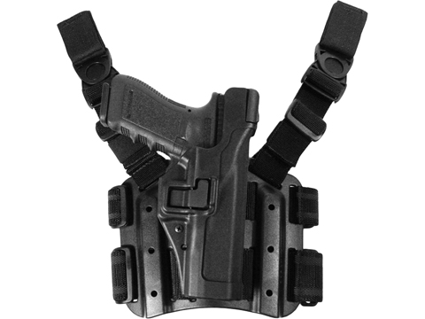 Blackhawk Serpa L3 Tactical Drop Leg Holster (Model: Beretta 92, 96, M9, M9A1 / Matte Black / Right Hand)