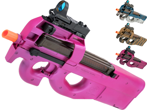 FN Herstal Licensed P90 Full Size Airsoft AEG PDW w/ Black Sheep Arms Custom Cerakote (Color: Pink Devil)