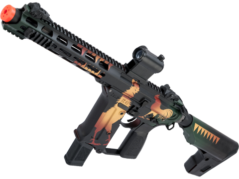 KWA Ronin Tekken Pistol Caliber AR Airsoft AEG Rifle w/ Black Sheep Arms Custom Cerakote