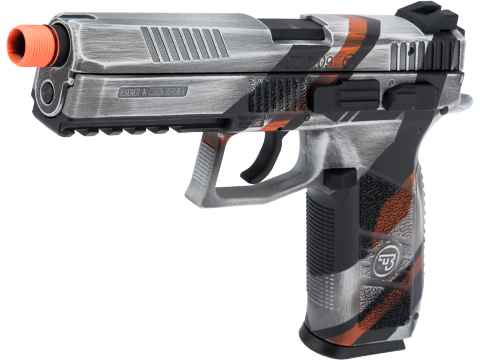 ASG CZ P-09 Suppressor Ready CO2 Airsoft GBB Pistol w/ Black Sheep Arms Custom Cerakote (Color: Asiimov)