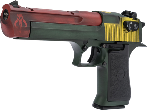 Magnum Research Licensed Semi/Full Auto Metal Desert Eagle CO2 Gas Blowback Airsoft Pistol by KWC w/ Black Sheep Arms Custom Cerakote (Color: Bounty Hunters Choice)