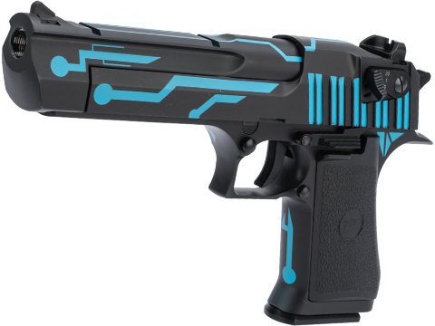 Magnum Research Licensed Semi/Full Auto Metal Desert Eagle CO2 Gas Blowback Airsoft Pistol by KWC w/ Black Sheep Arms Custom Cerakote (Color: Light Cycle Blue)