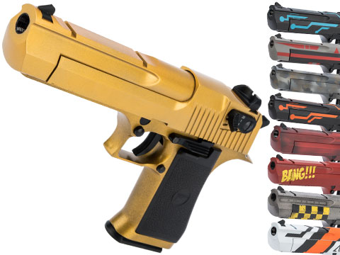 Magnum Research Licensed Semi/Full Auto Metal Desert Eagle CO2 Gas Blowback Airsoft Pistol by KWC w/ Black Sheep Arms Custom Cerakote (Color: Gold)