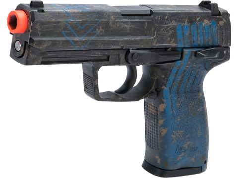 Heckler & Koch / Umarex USP Full Size NS2 Airsoft GBB Pistol by KWA w/ Black Sheep Arms Custom Cerakote