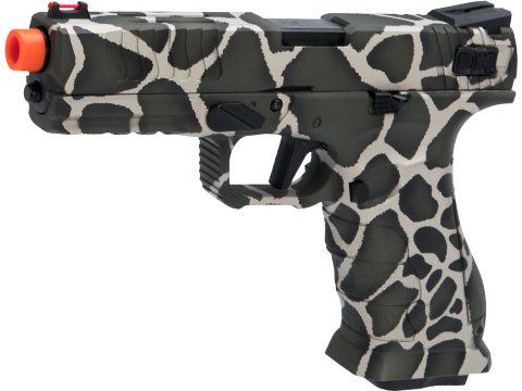 APS XTP Shark Full Automatic Select-Fire Co2 GBB Airsoft Pistol w/ Black Sheep Arms Custom Cerakote (Color: Safari)