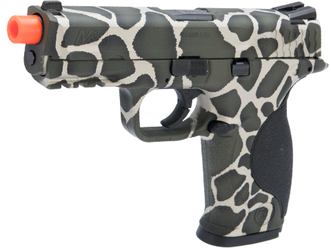 Smith & Wesson Licensed M&P 9 Full Size Airsoft GBB Pistol by VFC w/ Black Sheep Arms Custom Cerakote (Color: Safari)