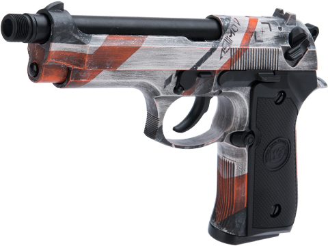 WE-Tech M9 Heavy Weight Airsoft GBB Professional Training Pistol w/ Black Sheep Arms Custom Cerakote (Color: Mov MKII)