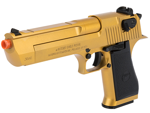 WE-Tech Desert Eagle .50 AE GBB Airsoft Pistol by Cybergun w/ Black Sheep Arms Custom Cerakote (Color: Golden Gun)