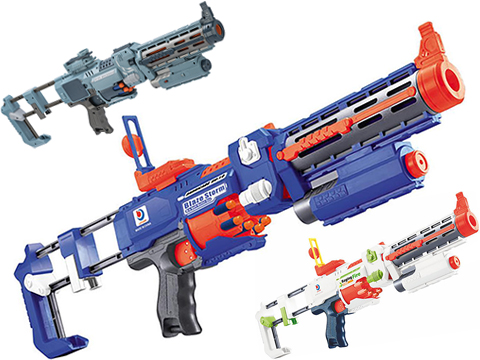 (NEW YEAR'S EPIC DEAL!!!) Blaze Storm Foam Blaster Full Auto Electric Foam Dart Rifle with Drum Mag & Laser (Model: Alpine)