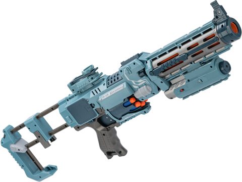 Blaze Storm Foam Blaster Full Auto Electric Foam Dart Rifle with Drum Mag & Laser (Model: Grey)