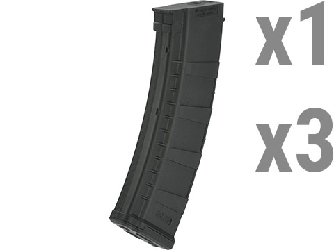 Blue Box AK 155rds Midcap for AK Style Airsoft AEGs (Color: Black / Single Magazine)