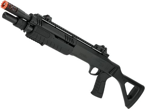 FABARM STF12 Pump Action Tri-Shot Airsoft Shotgun (Model: Compact / Black)
