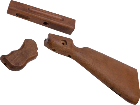 Black Owl Gear Wood Conversion Kit for Thompson M1A1 Series Airsoft Gas Powered Rifles