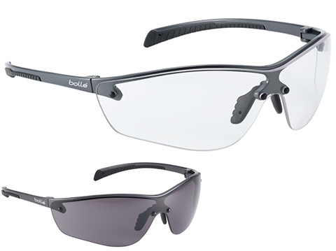 Bolle Safety SILIUM+ Ultra Lightweight Safety Glasses (Color: Clear Lens)