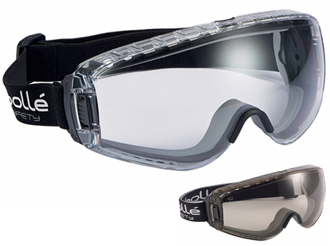 Bolle Safety PILOT Full Seal Safety Goggles (Color: Clear Lens)