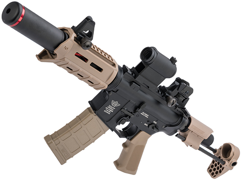 BOLT B4 PDW M4 Airsoft AEG Rifle (Color: Tan / Long Suppressor)