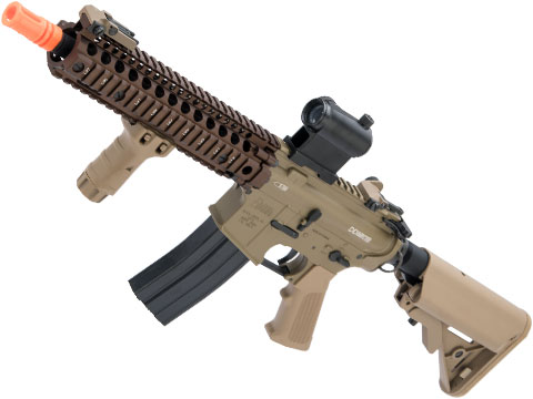 BOLT Daniel Defense Licensed DD MK18 MOD 1 B.R.S.S. Recoil EBB Airsoft AEG Rifle (Color: Tan)