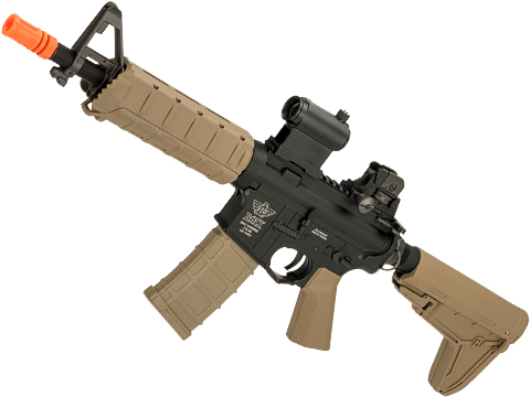 Bolt Airsoft B4A Elite SD Enhanced B.R.S.S Eletric Blowback Airsoft AEG (Color: Tan)
