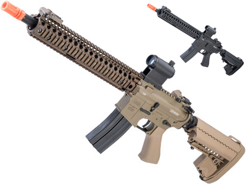 BOLT Daniel Defense Licensed DDM4 RIS II B.R.S.S. HEAVY Full Metal Recoil EBB Airsoft AEG Rifle