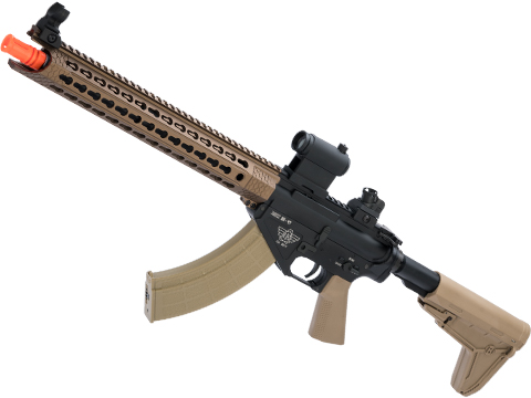 BOLT Airsoft BR-47 Cobra 13 KeyMod B.R.S.S. EBB Airsoft AEG Rifle (Color: Tan)