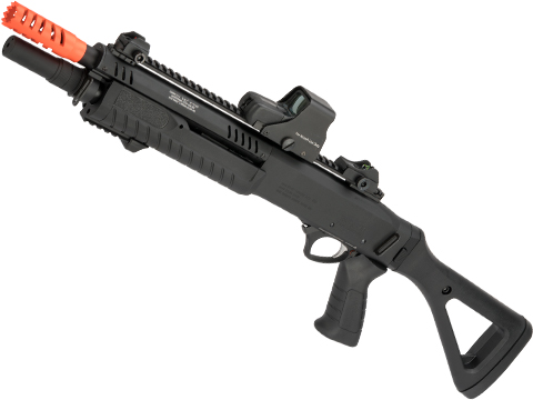 FABARM / VFC STF12 Pump Action CO2 Powered 3 / 6 Shot Airsoft Shotgun (Model: Compact / Black)