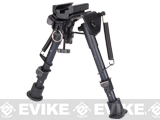 Evike.com Real Steel Grade Retractable Harris Type Bipod (Barrel, RIS and Stud Sniper Mount)