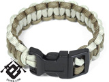 Evike.com Mil-Spec Survival Paracord Cobra Bracelet w/ QD Buckle - Coyote/Tan 5""