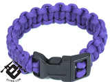Evike.com Mil-Spec Survival Paracord Cobra Bracelet w/ QD Buckle - Purple 7""