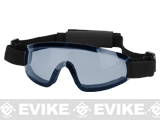 Bravo Tactical LP Low Profile Airsoft Gaming Sports Goggles (Color: Blue Lens)